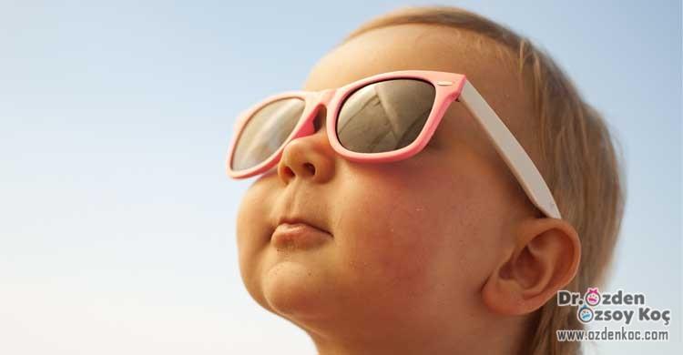çocuklarda ve bebeklerde güneş çarpması